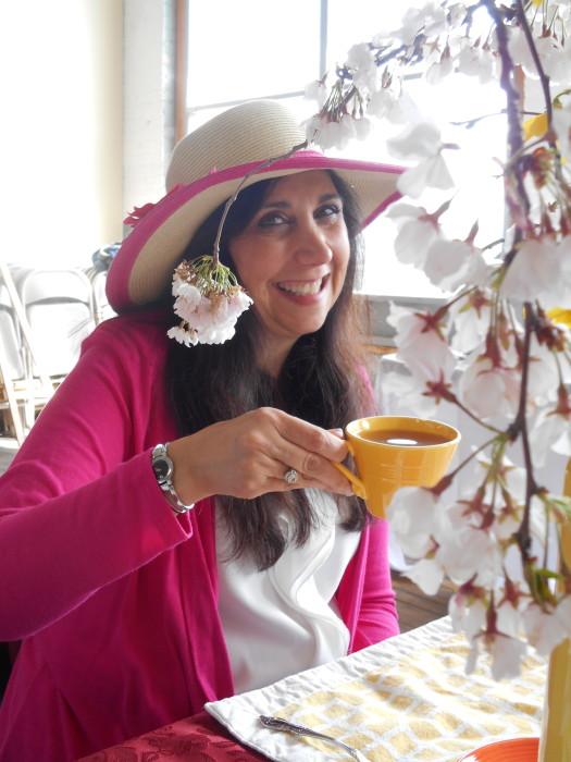 JoAnn in the flowers